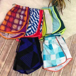 Nike Women's Running Shorts Bundle of 6 Size M